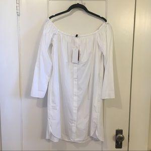 Zara Dress - Off the Shoulder | White | Size Large